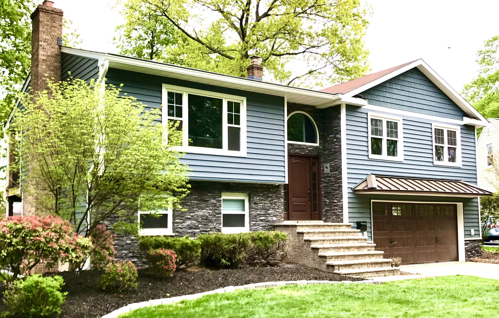 Alside Prodigy Insulated Solid Backed Siding, Boral Cultured Stone, Metal Roof in Morristown, Morris County NJ
