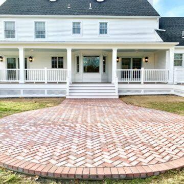 Azek Composite Porch and Cambridge Paver Patio in Washington, Warren County NJ