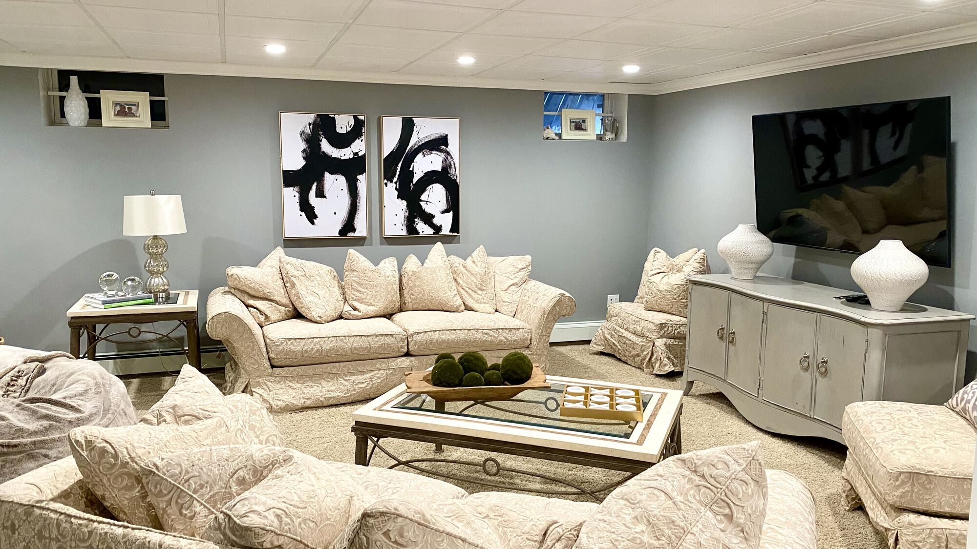 Basement Remodeling with Carpet Flooring in Sussex County NJ