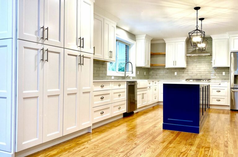 Kitchen Renovation with Fabuwood Cabinets, Quartz Tops, Tile Backsplash, Wood Flooring, Andersen Windows _ Doors in Bloomfield, Essex County NJ