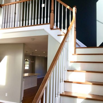 Addition with Open Two Story Foyer and Custom Staircase and Millwork in Bergen County NJ