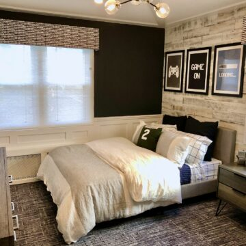 Bedroom Remodeling with Paneling and Trim, New Flooring in Union NJ