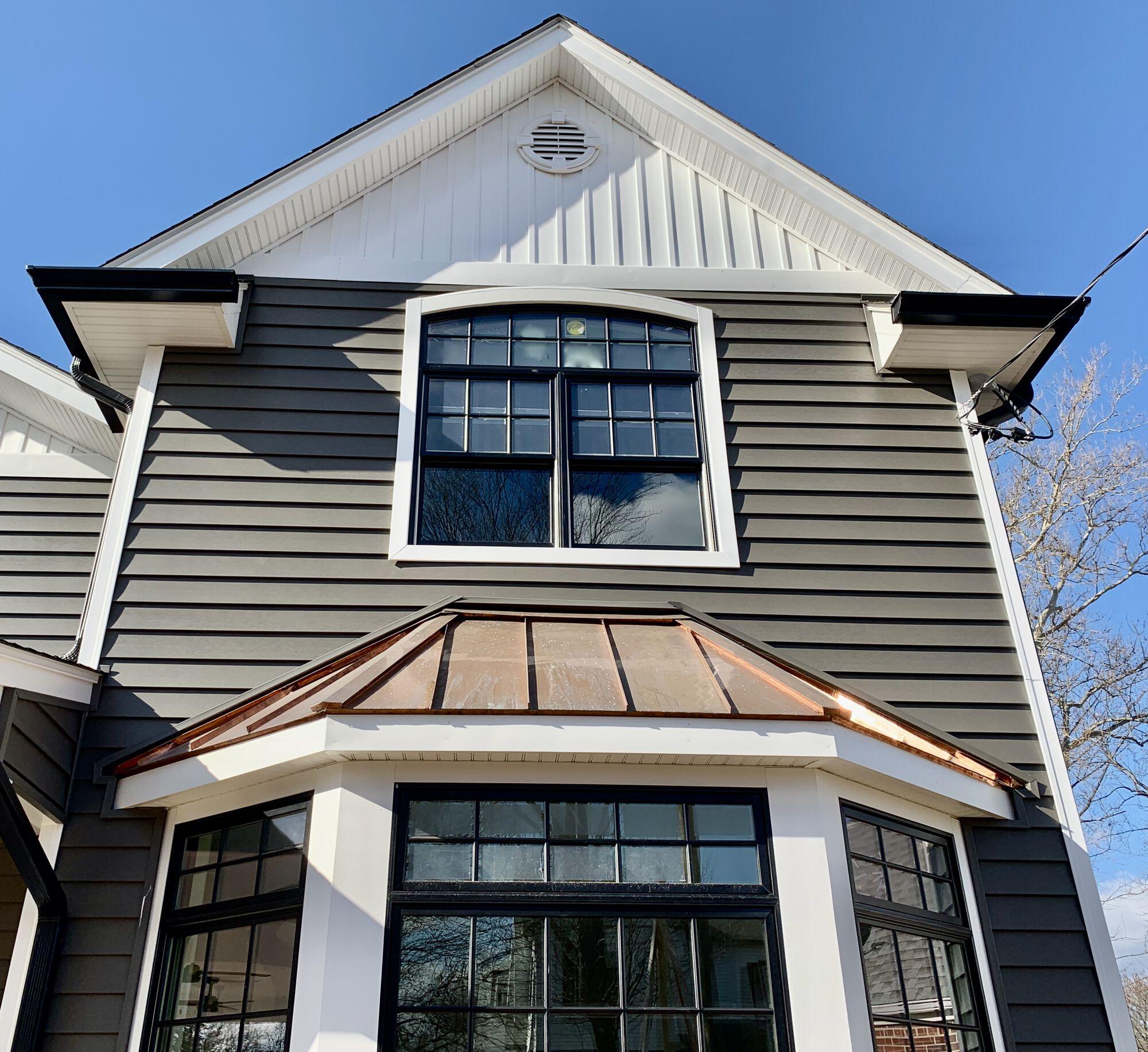 Pella Windows, Copper Roofing, Alside Prodigy _ Board _ Batten Siding in New Milford, Bergen County NJ