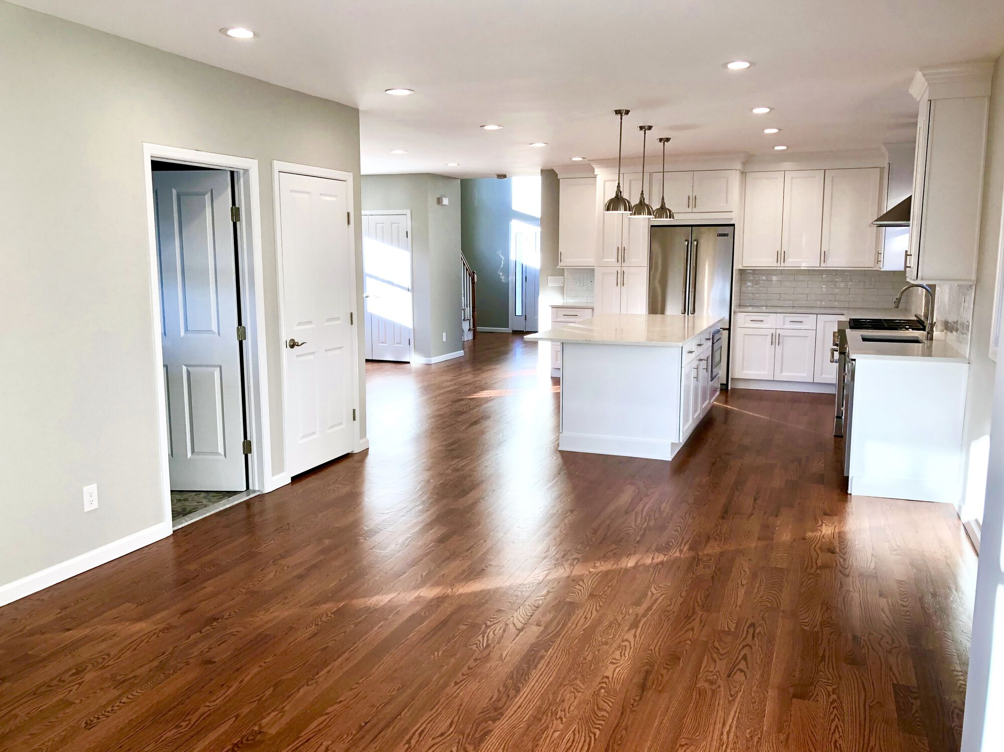 Open Concept Renovation _ Addition with Hardwood Floors and Custom Kitchen in Bergen County NJ
