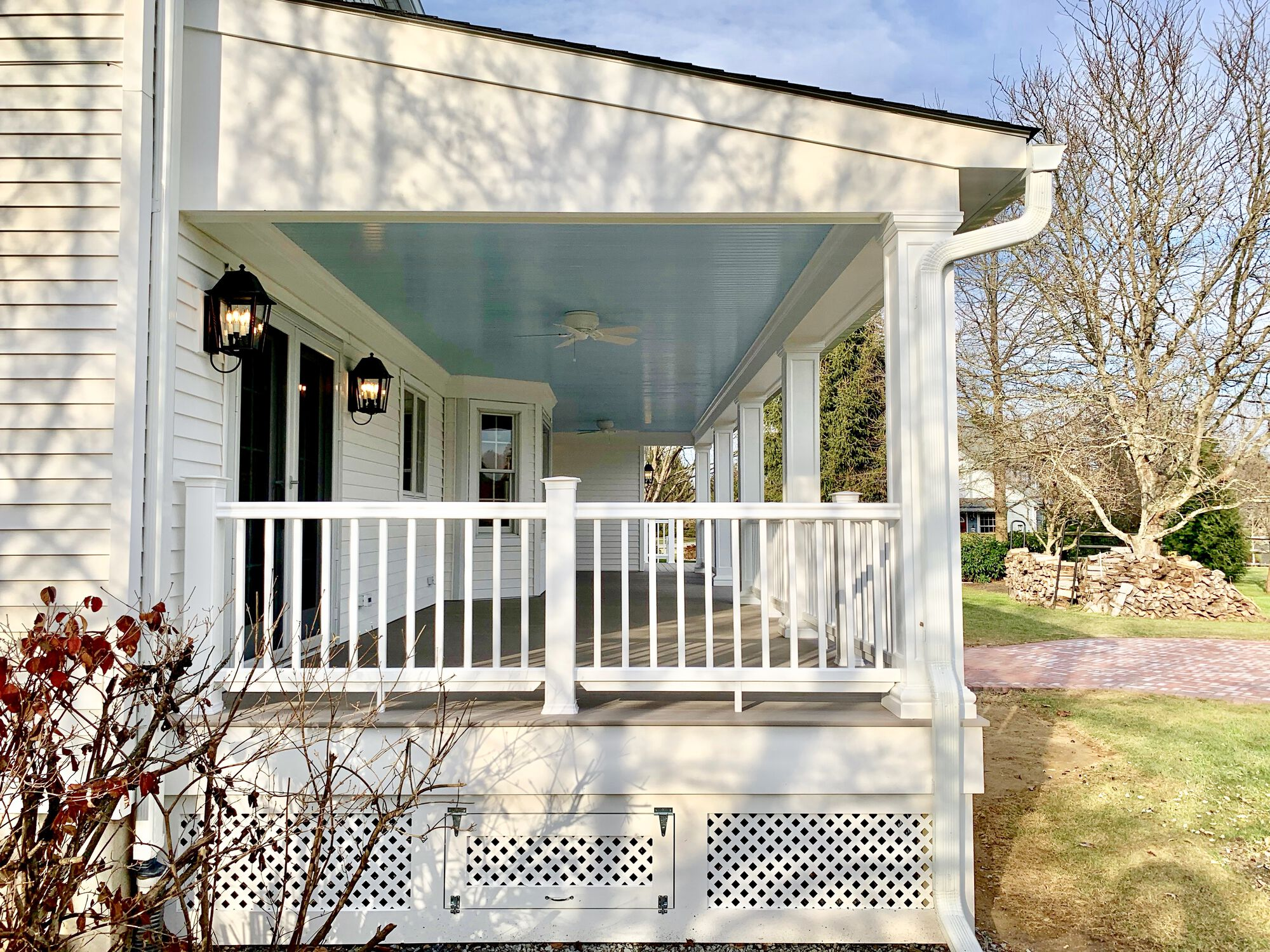 Porch Addition with Composite Decking and Trim in Washington, Warren County NJ