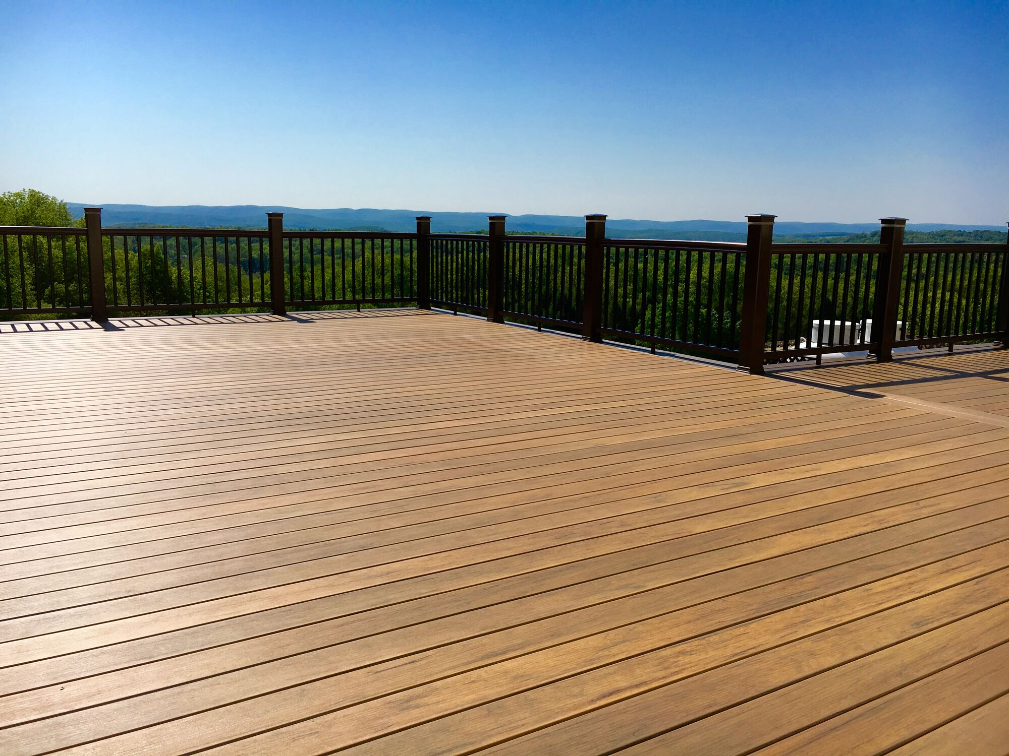 Timbertech Pro Composite Decking and Rails with Post Cap LED Lighting in Wantage, Sussex County NJ
