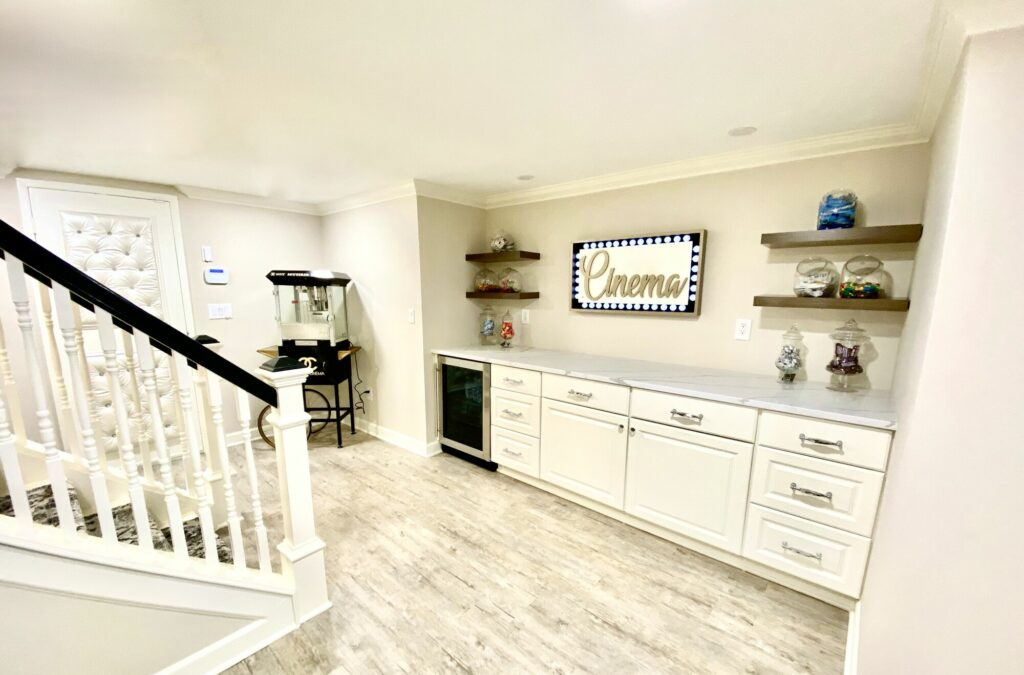 Basement Renovation with Built-In Cabinetry in Bergen County NJ
