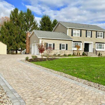 Brick Paver Driveway & Walkway with Cambridge Pavingstones in Randolph, Morris County NJ