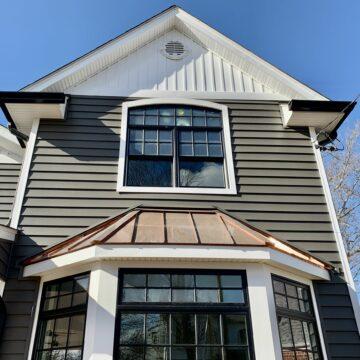 Pella Bay Window with Copper Roof in Bergen County NJ
