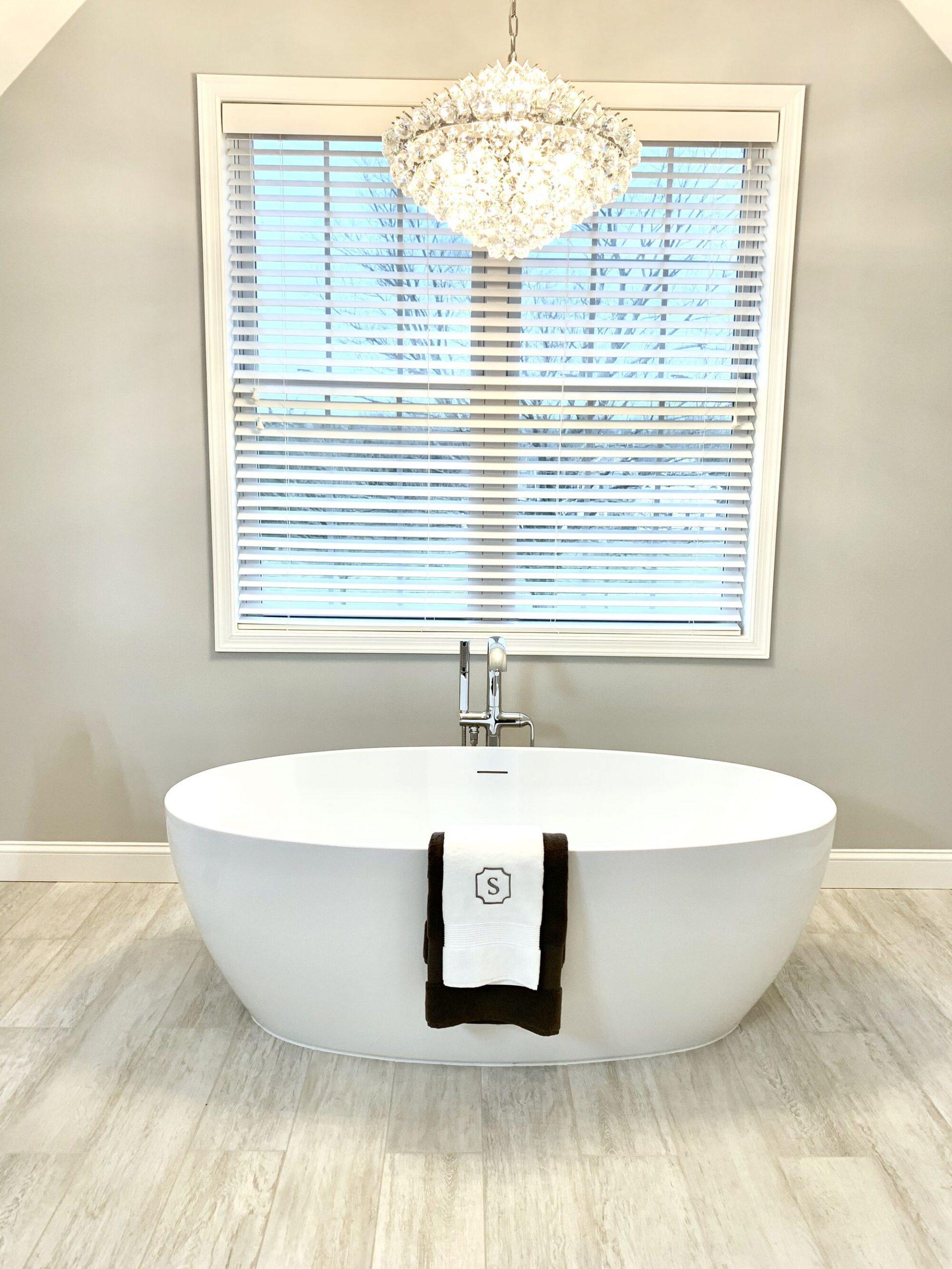 Sparta, Sussex County NJ Master Bath with Fleurco Tub and Kohler Kallista Floor Mounted Tub Filler