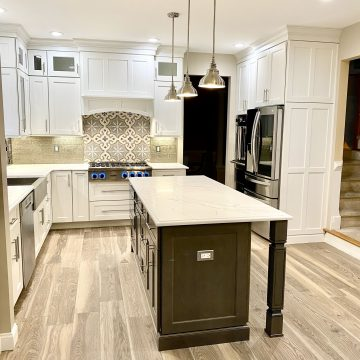 Kitchen Renovation with Brighton Cabinetry, Quartz Tops, Viking Appliances in Somerset County, NJ