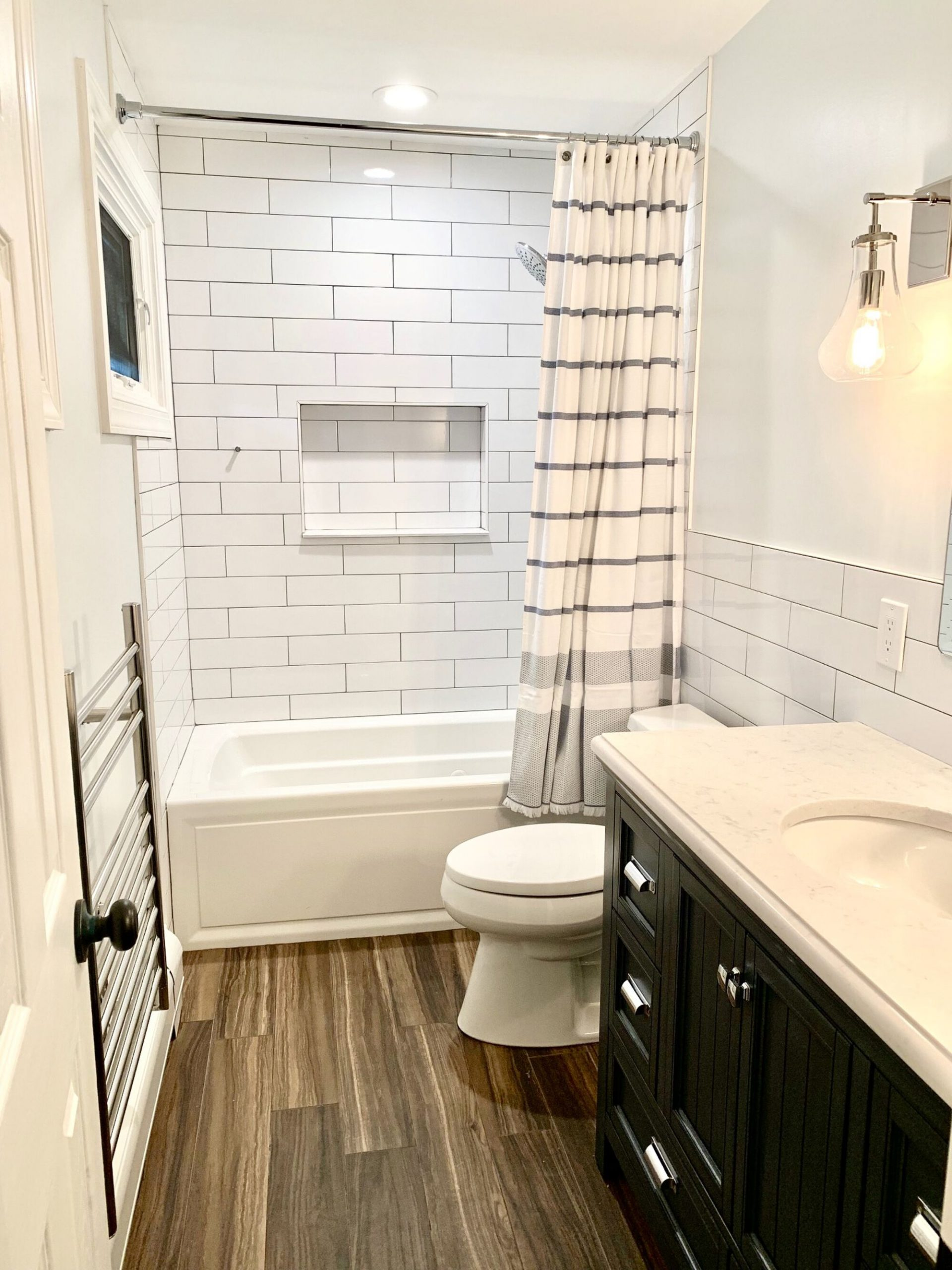 Wood Plank ceramic Tile, Oversized Subway Tile, Product Inset, Towel Warmer in South Amboy, Middlesex County NJ