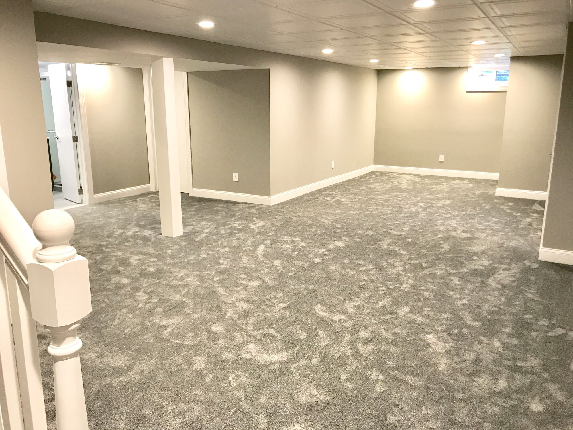 Edison, Middlesex NJ Finished Basement with Full Bathroom
