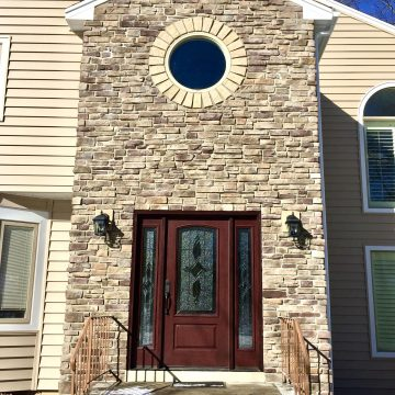 Boral Ledgestone for Front Entryway In East Hanover, Morris County NJ