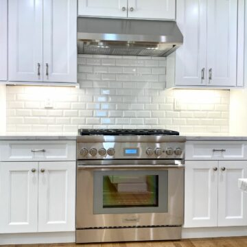 Fabuwood Nexus Shaker Cabinets with Thermador Appliances in Cranford, Union County NJ