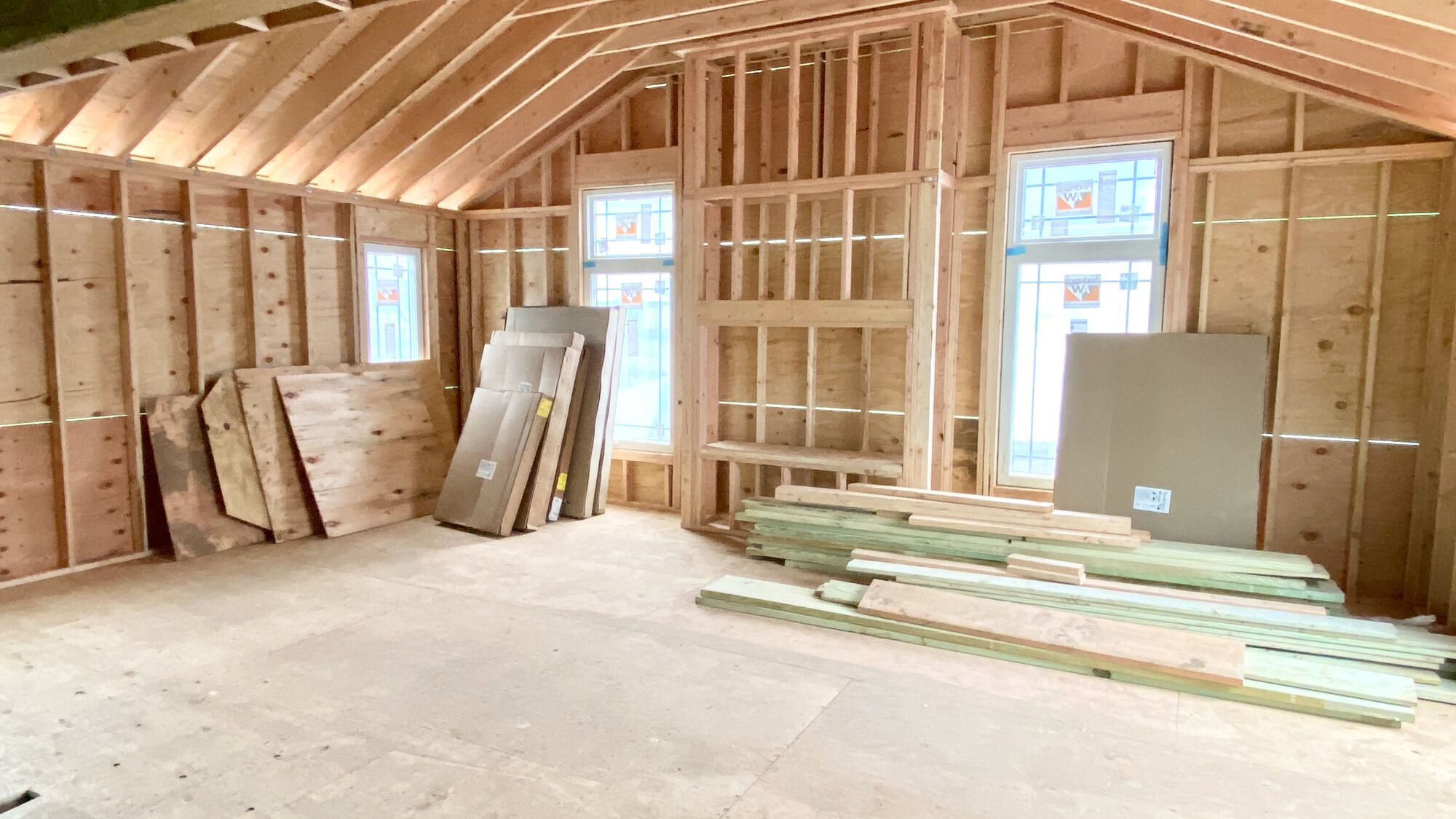 Family Room Addition with Vaulted Ceilings, Hardwood Flooring, Andersen Windows in Cranford, Union County NJ