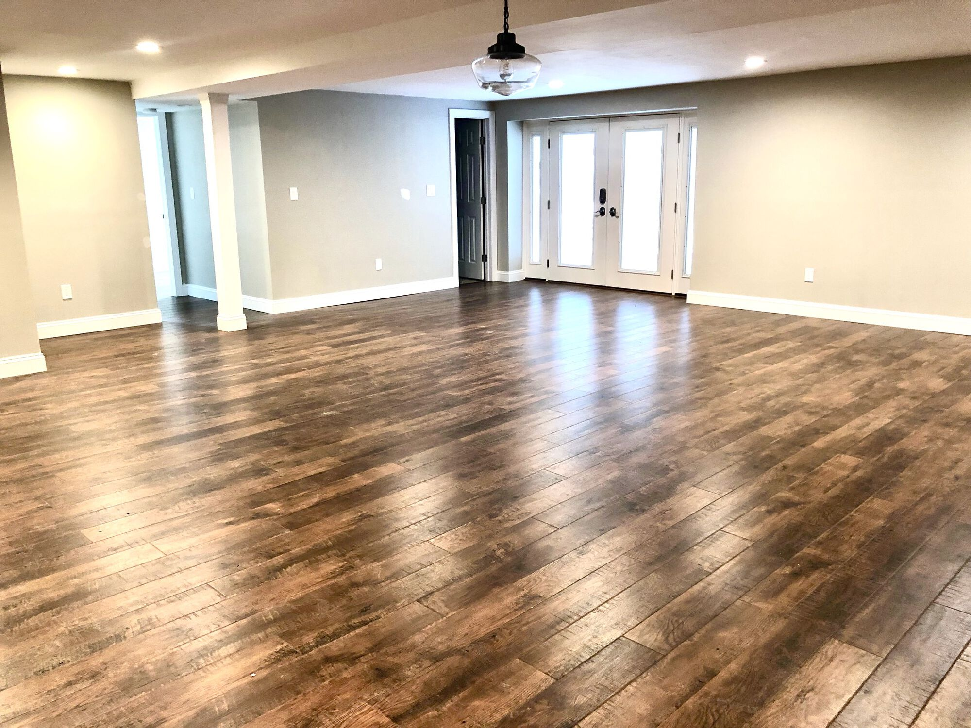 Finished Basement with Bath, Laundry, French Doors to Yard in Little Falls, Essex County NJ