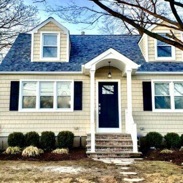 Owens-Corning Roofing, Shake Siding, Portico in Wayne, Passaic County NJ
