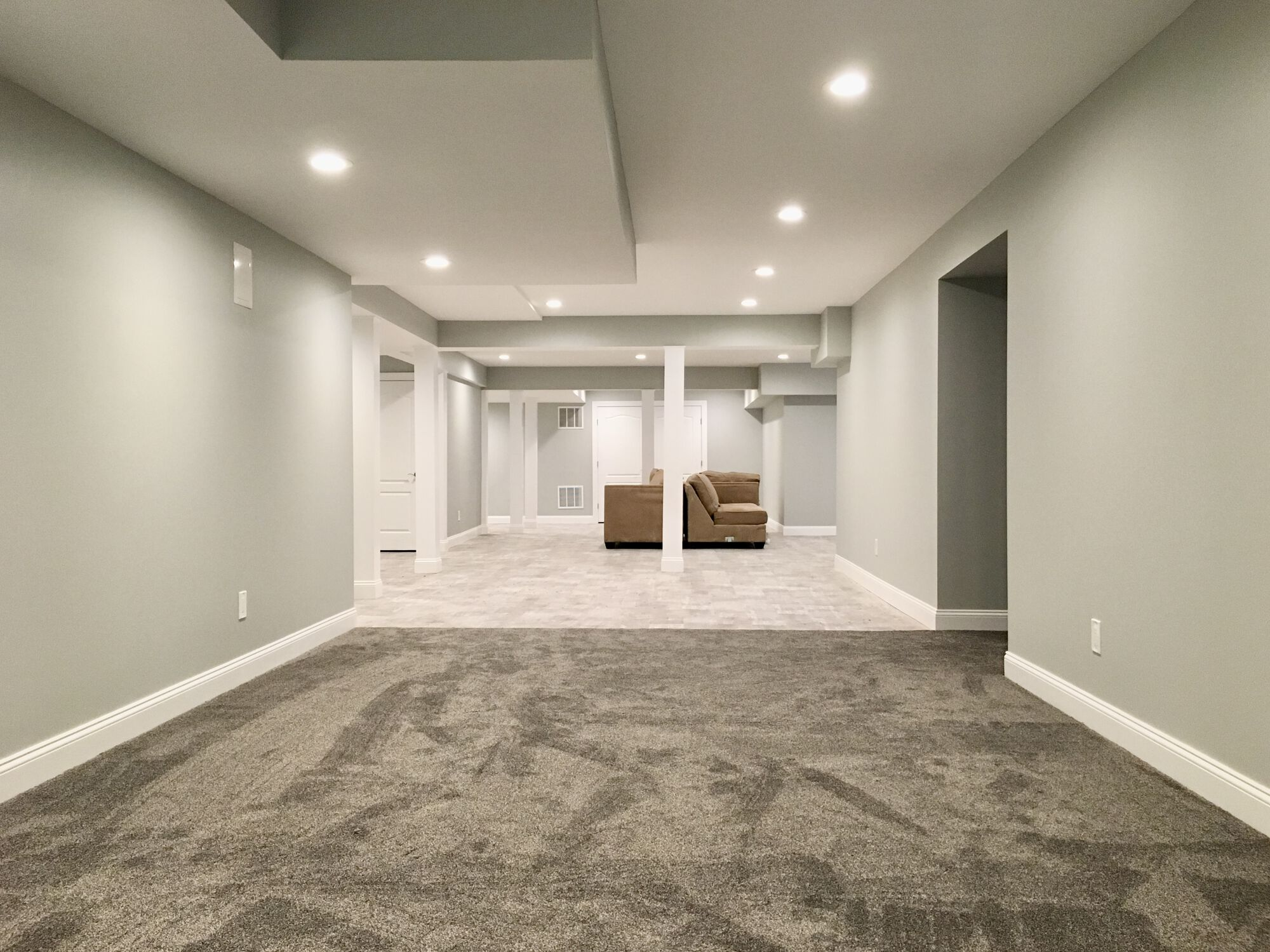 Upper Saddle River, Bergen County Basement with Vinyl and Carpet, Exercise and Family Rooms, Office Space _ More!