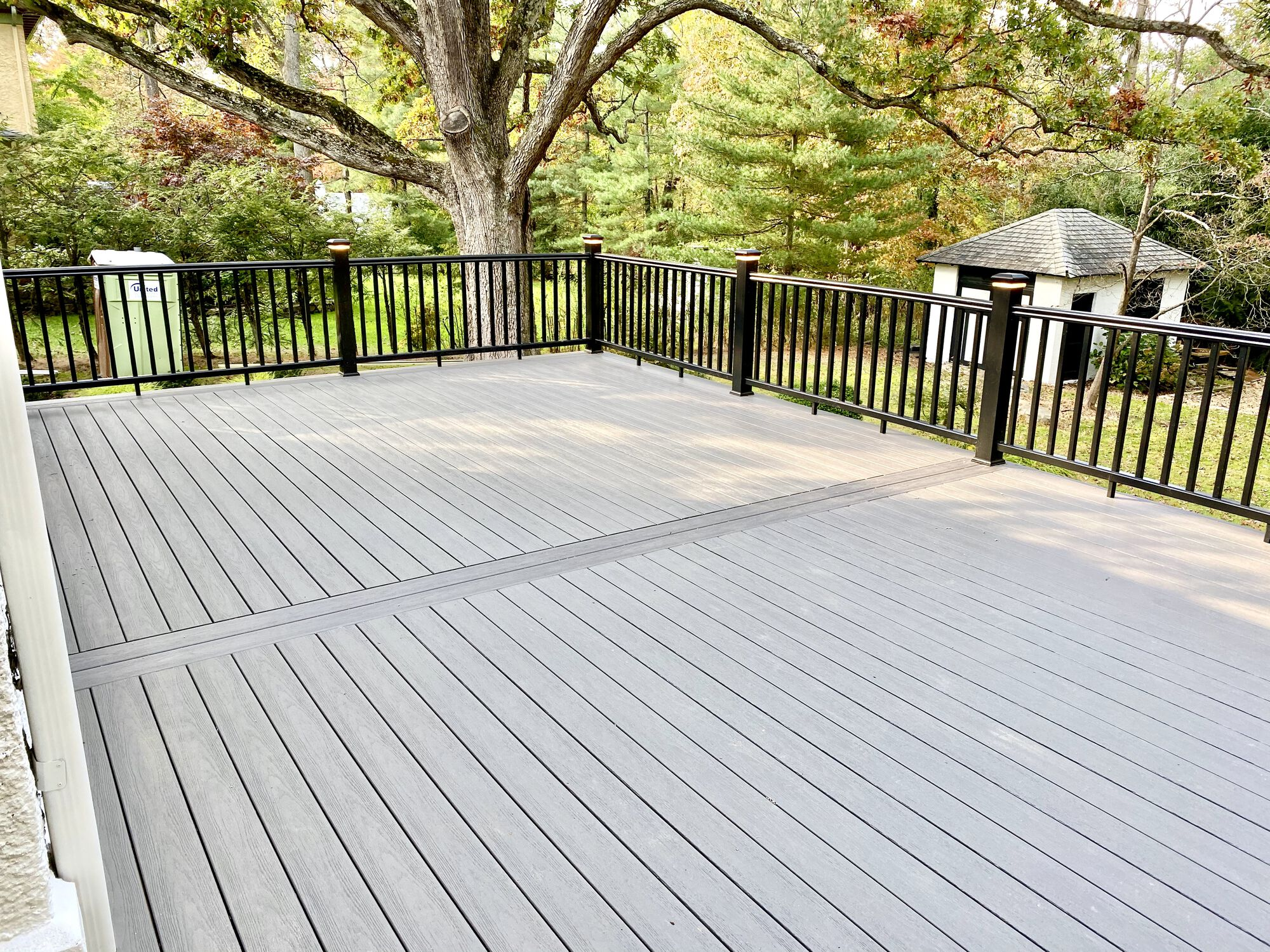 Composite Timbertech Deck with Black Composite Rails in Summit, Union County NJ