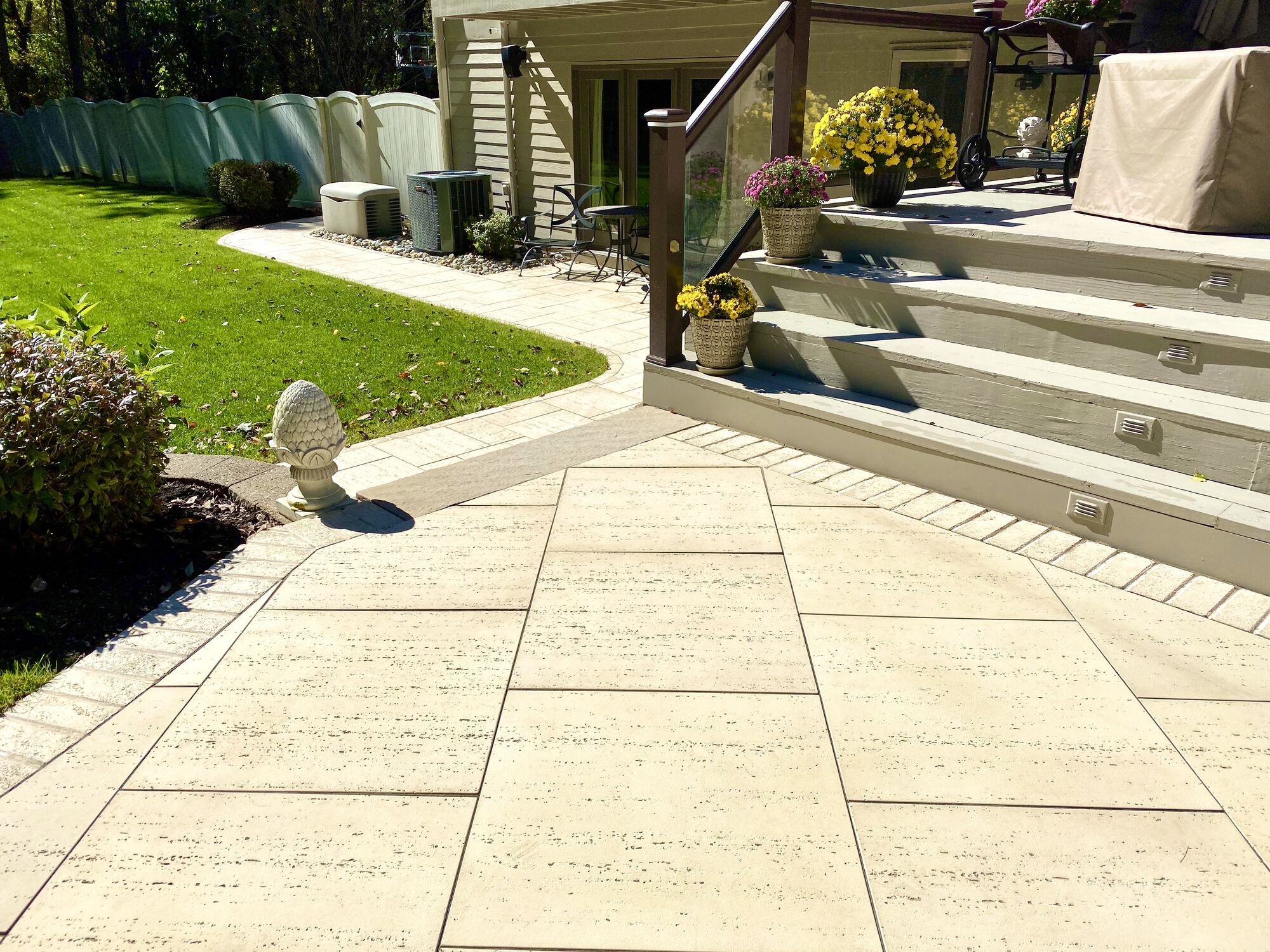 Techo-Bloc Travertina Paver Patio and Walkway in Sparta, Sussex County NJ