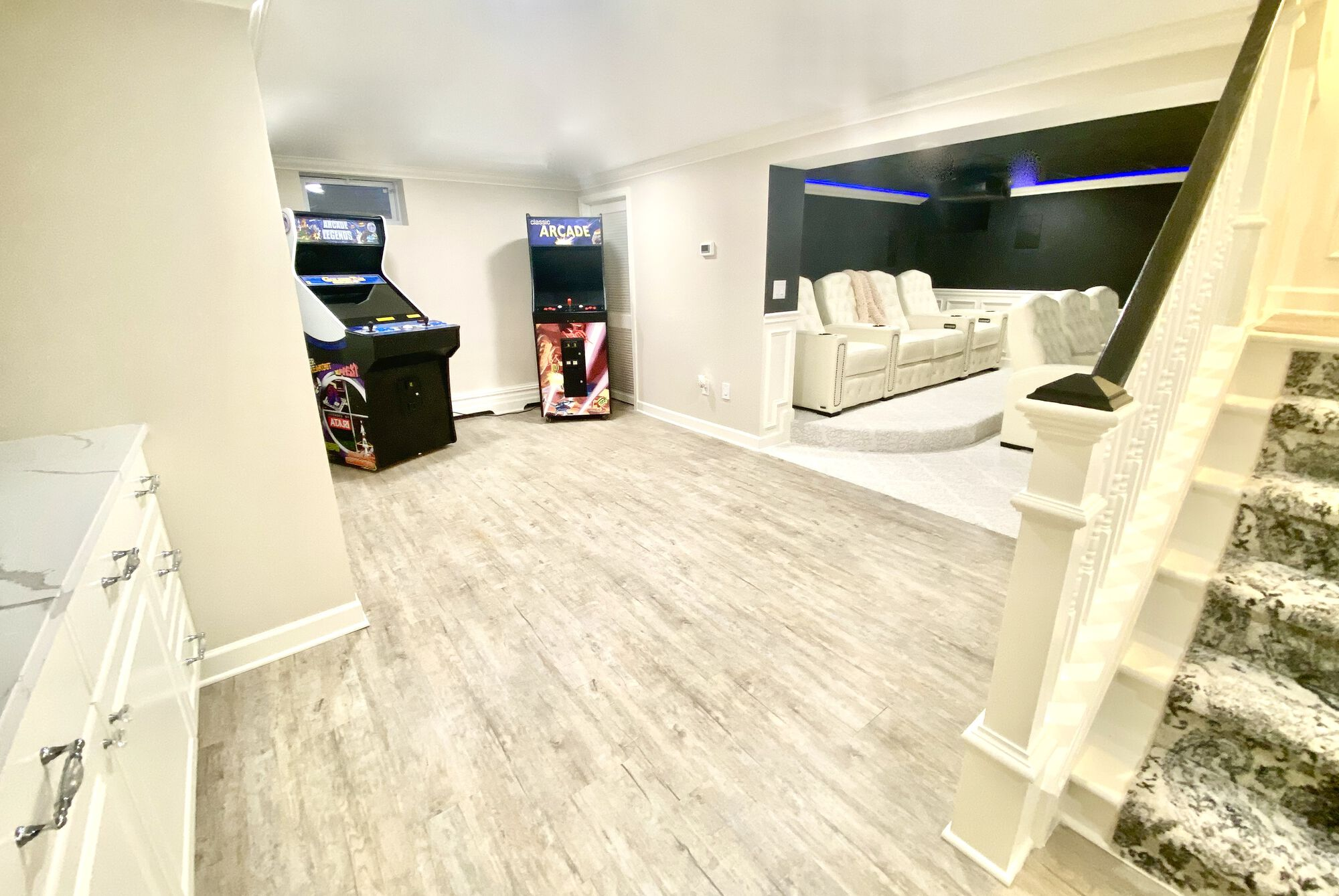 Basement Remodel with Theater in Upper Saddle River, Bergen County NJ