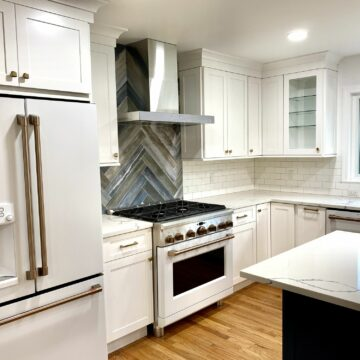 Fabuwood Galaxy Shaker Style Cabinets with Shroud Chimney in Union County NJ