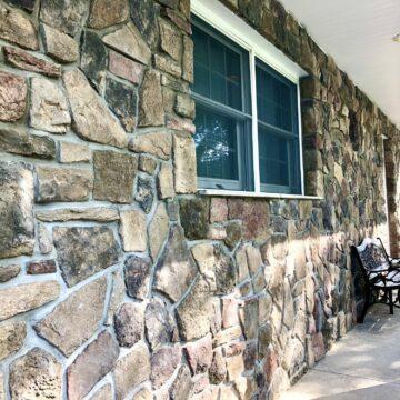Fieldstone Veneer for Front Porch in Mahwah, Bergen County