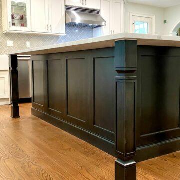 Kitchen Reno with Custom Island, Viking Appliances, Oak Flooring in Mahwah, Bergen County NJ