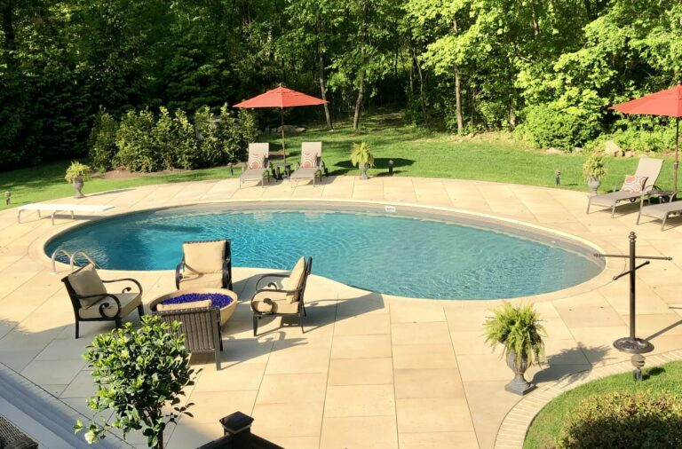 Techo- Bloc Pool Patio and Walkway with Rocka Steps in Sussex County NJ
