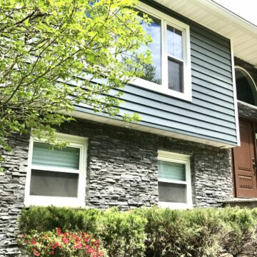 5 Vinyl Thermopane Double Hung Replacement Windows Installed in Morristown, Morris County NJ