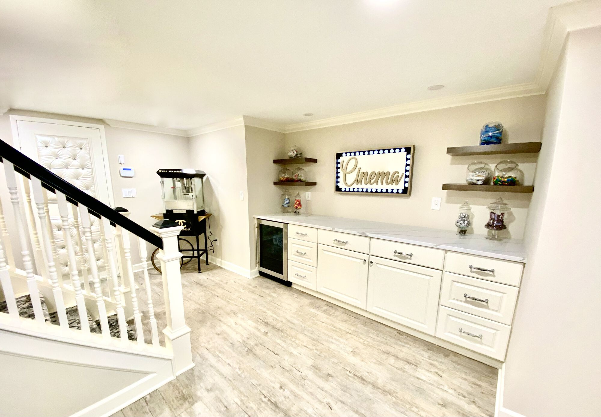 Basement with Built-In Cabinetry in Bergen County NJ
