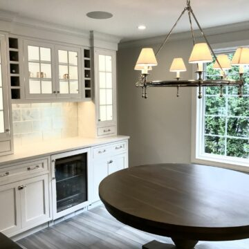 Brighton Kitchen Cabinets with Glass Doors in Verona, Essex County NJ