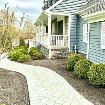 Cambridge Paver Walkway In Hillsborough, Somerset County NJ
