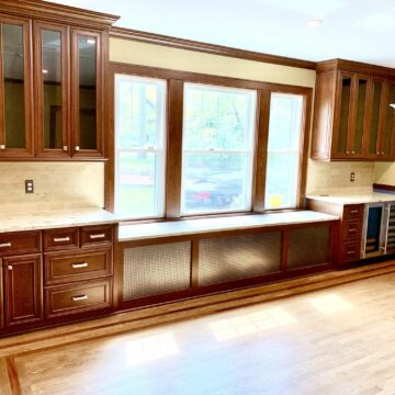 Custom Cherry Built-In Cabinetry in Short Hills, Essex County NJ