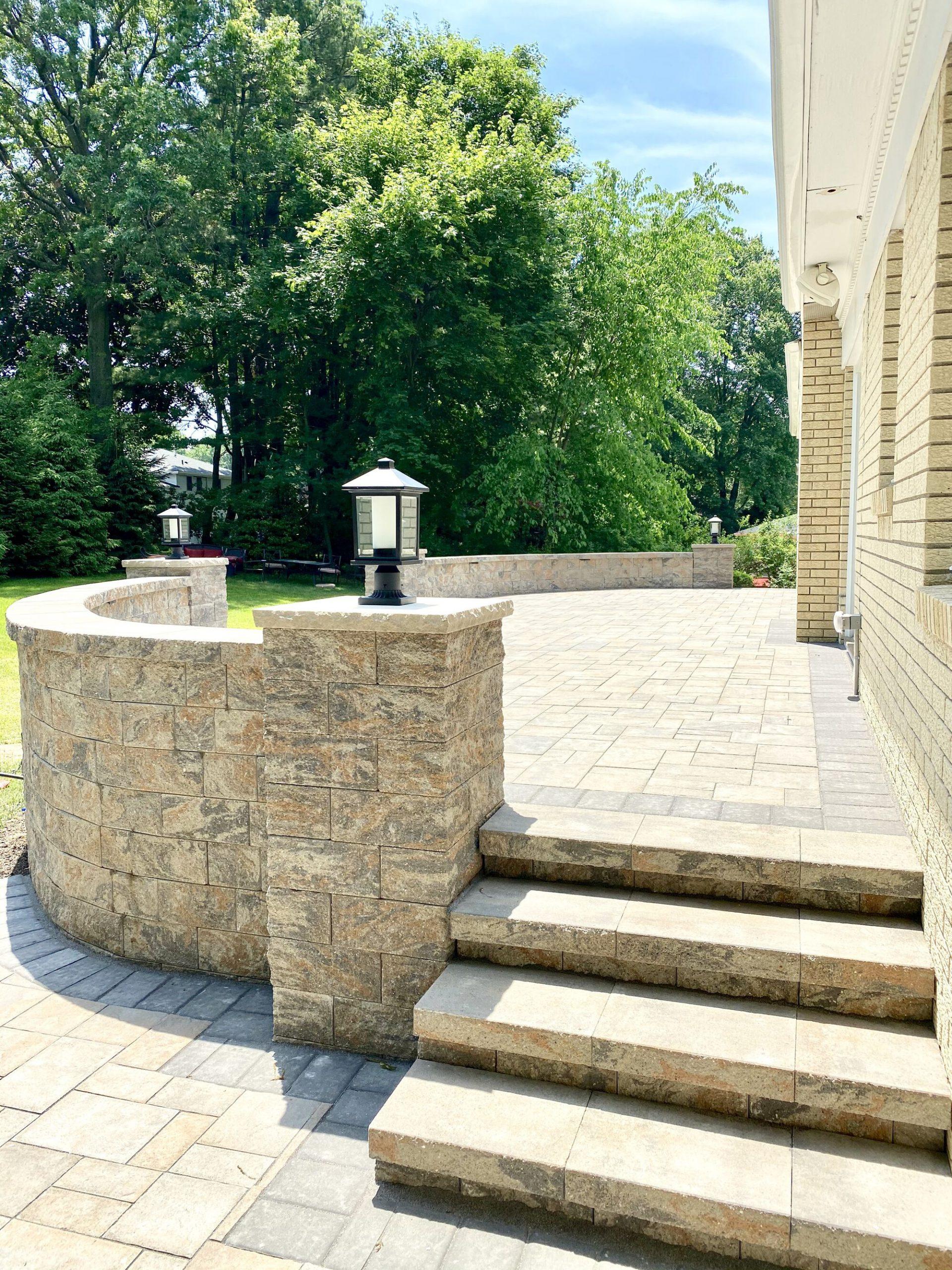 Cambridge Raised Patio in Oradell, Bergen County NJ