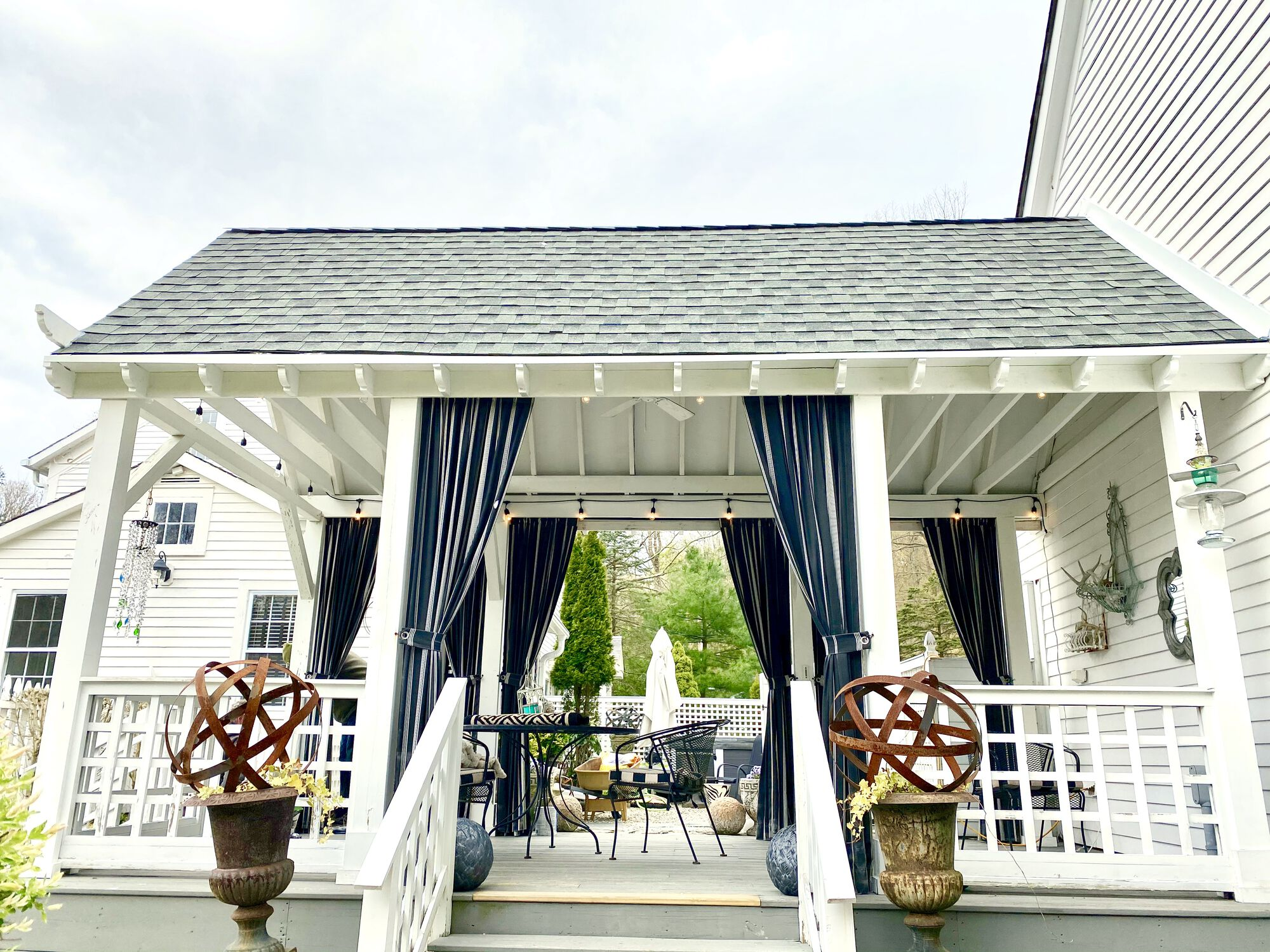 Covered Porch with GAF Lifetime Roofing and Trim in Sparta, Sussex County NJ