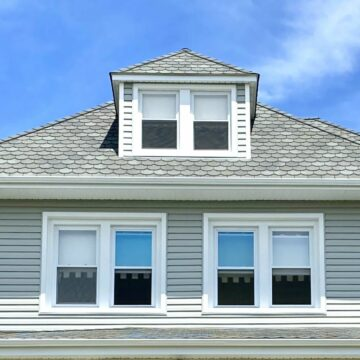 Certainteed Carriage House Roofing Shingles, Alside Charter Oak Siding, Gutters in Bradley Beach, Ocean County NJ
