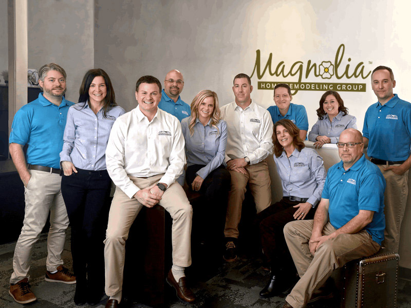 A photo of the Magnolia Home Renovations team.
