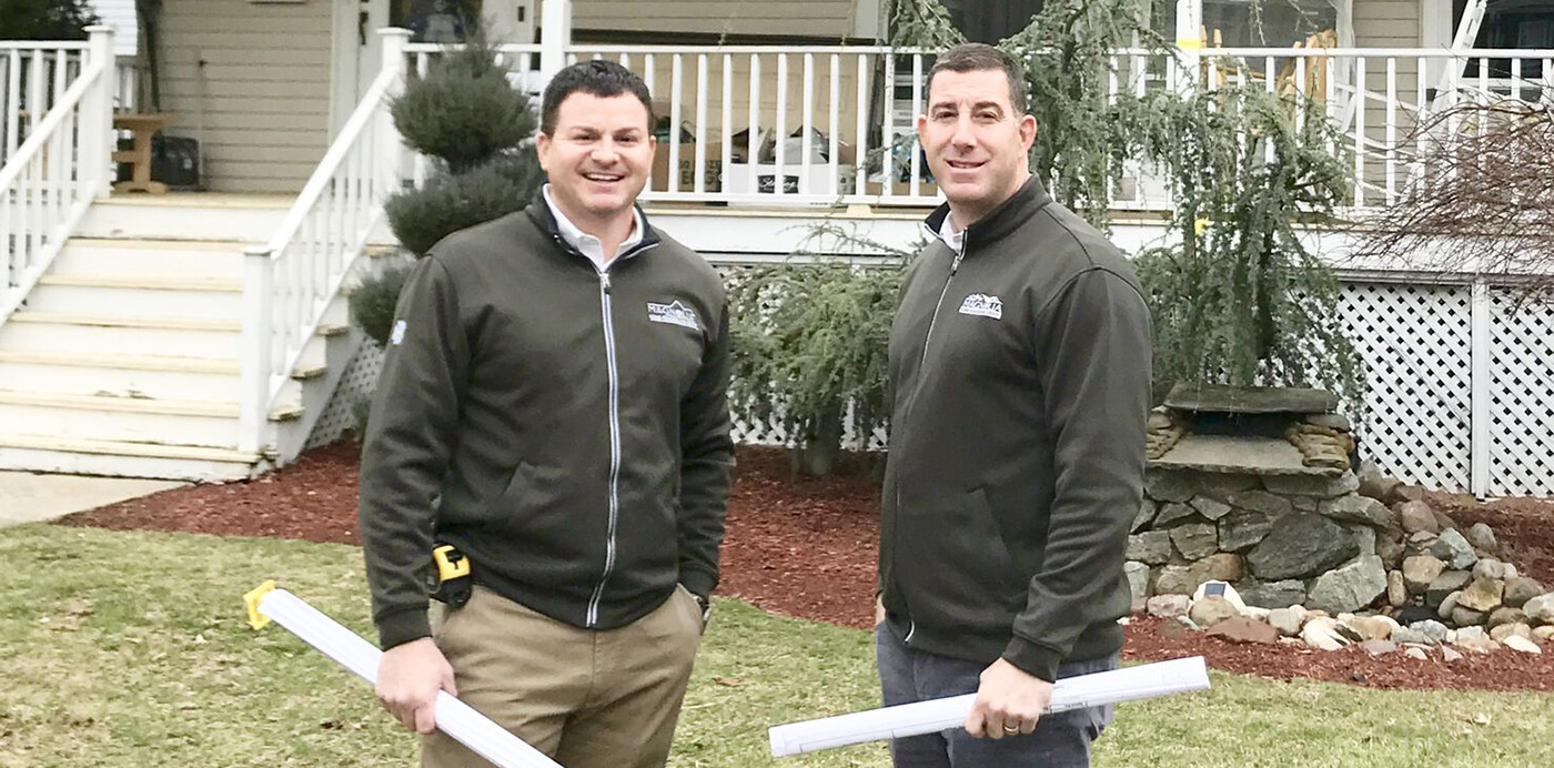 Vic Fiore and Chris Fortuna at a Roselle Park, NJ project walk-through